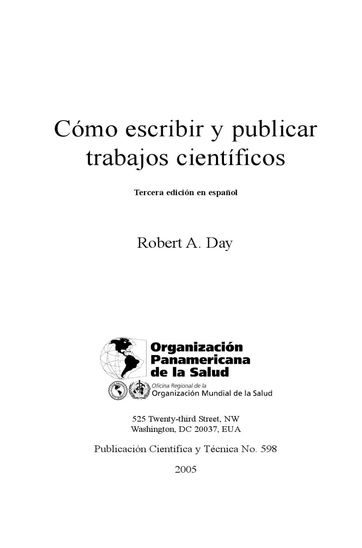 cómo escribir y publicar trabajos científicos by Universidad de Jaén ...