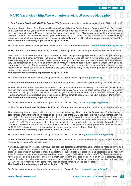E-Nano Newsletter nº 14 by Phantoms Foundation - issuu