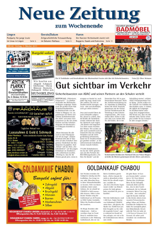 Neue zeitung ausgabe meppen kw40 2011 by gerhard verlag gmbh issuu - Fliesen jasken haren ...