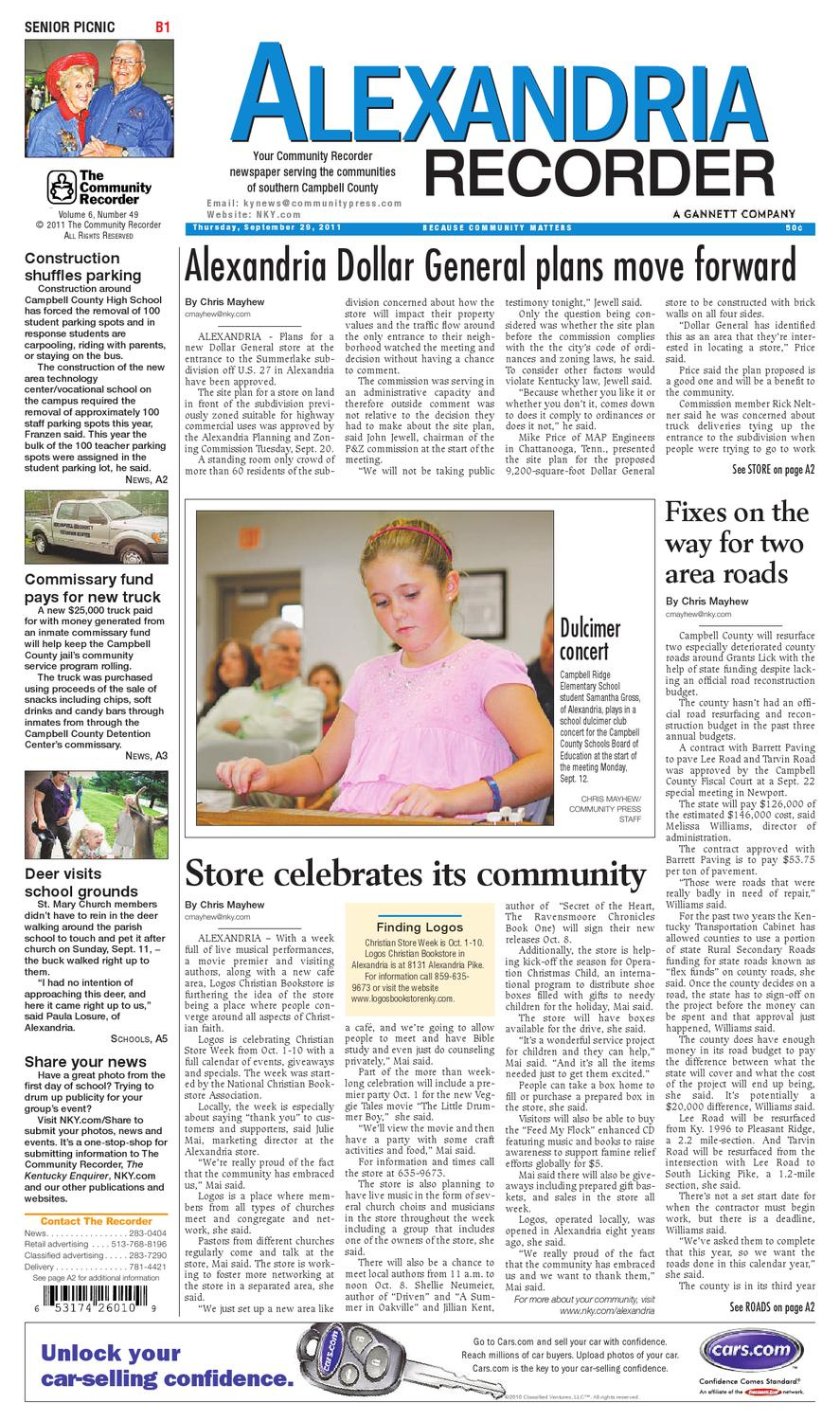 alexandria-recorder-092911 by Enquirer Media - issuu