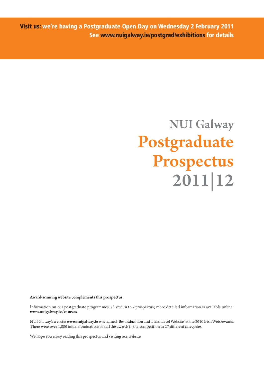 Nuigalway Postgraduate Prospectus By Nui Galway Inofficial Issuu