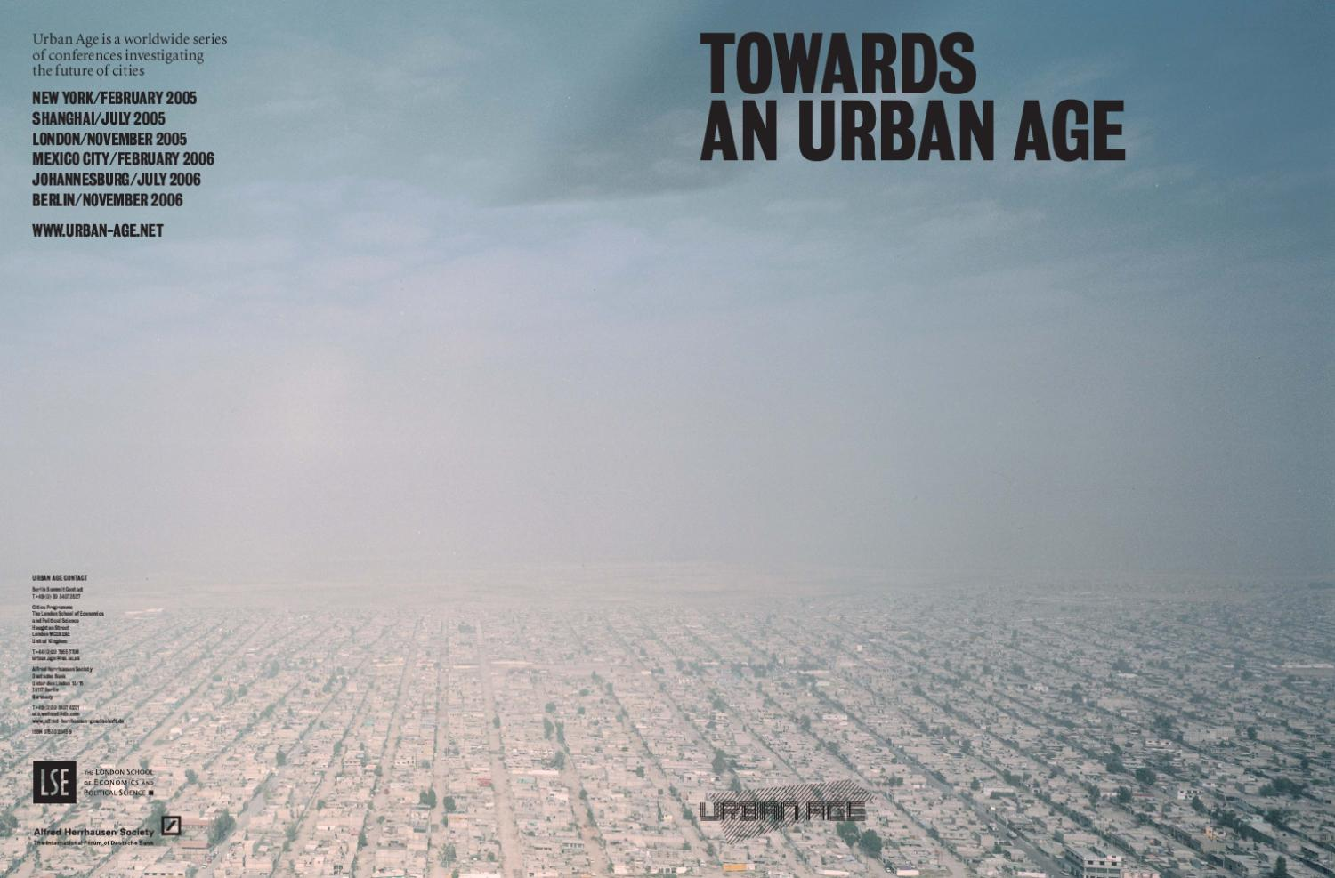 Towards an Urban Age by LSE Cities - issuu