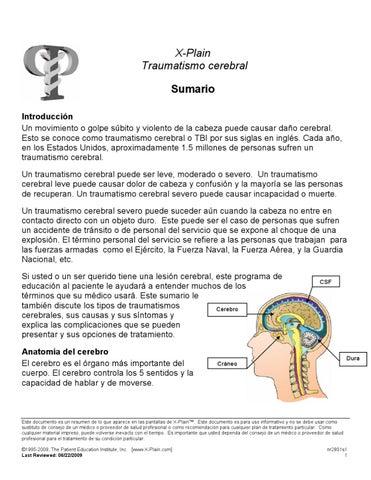 Lesión en la cabeza abierta tbi