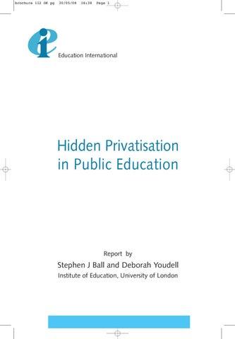 7bfad16852c269 Hidden Privatisation in Public Education by Education International ...