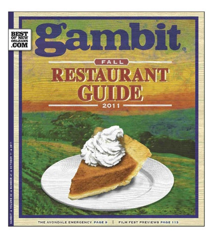 brand new 72113 99aa5 Gambit s Fall Restaurant Guide by Gambit New Orleans - issuu