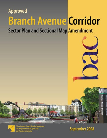 Approved Branch Avenue Corridor Sector Plan And Sectional Map