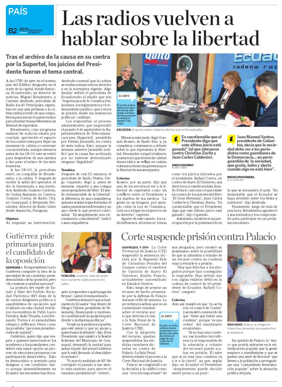 Diario La Hora El Oro 11 de octubre 2011