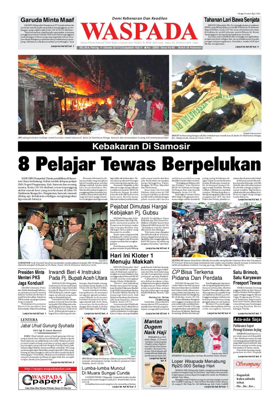Waspada Selasa 11 Oktober 2011 By Harian Waspada Issuu