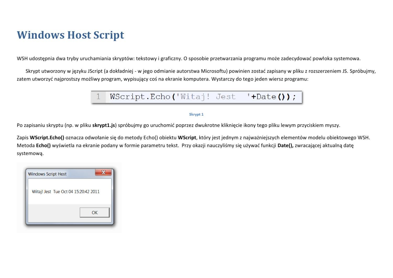 Windows Host Script By Ted Gracz Issuu