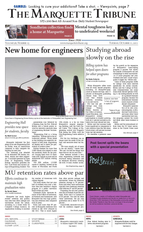 online retailer aa2ae 0fb4e Oct. 11th, 2011   The Marquette Tribune by Marquette Tribune - issuu