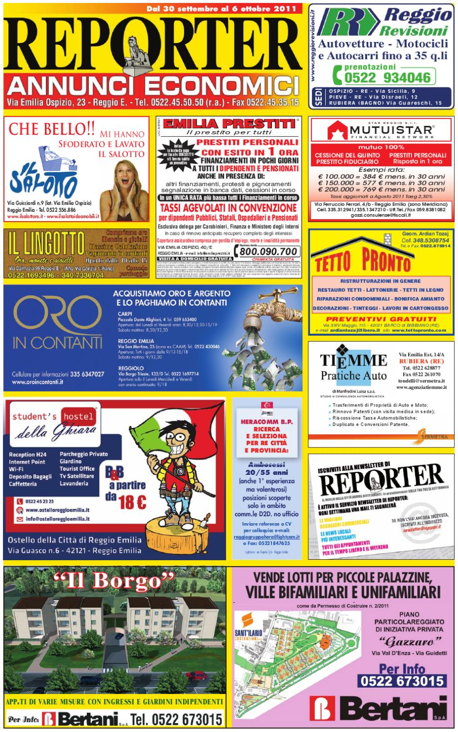 hot sale online be26d 40a95 Reporter Annunci 30 settembre 2011 by Reporter - issuu