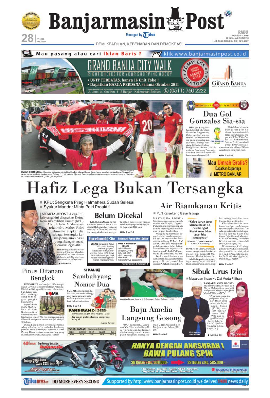 Banjarmasin Post Edisi Cetak Rabu 12 Oktober 2011 By Tas Ransel Subway 21177 Issuu