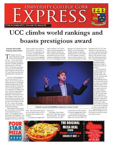 UCC Express Volume 19 Issue 2 Oct 11 2011 by Brian Byrne - issuu
