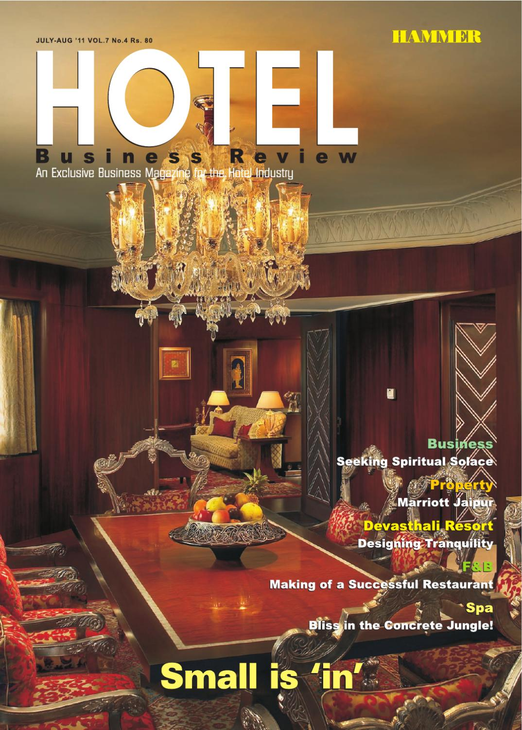 Hammers Hotel Business Review by Hammer Publishers Pvt. Ltd - issuu