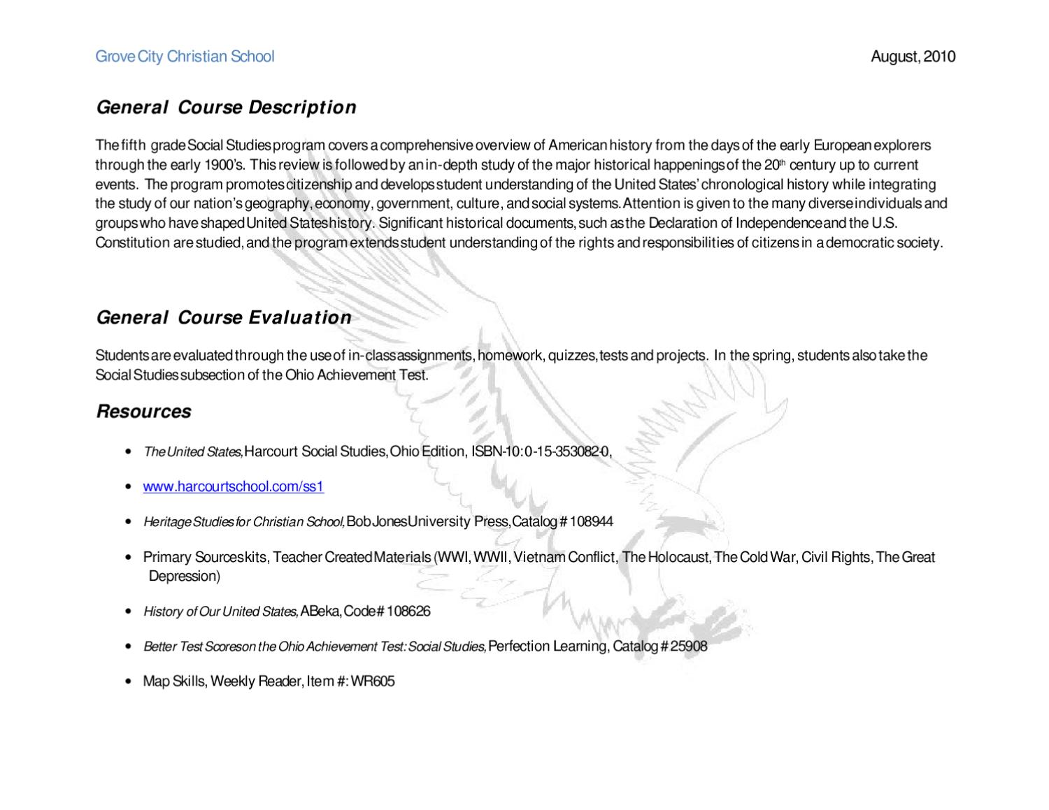 Fifth Grade Curriculum Overview Time4Learning - psychologyarticles info