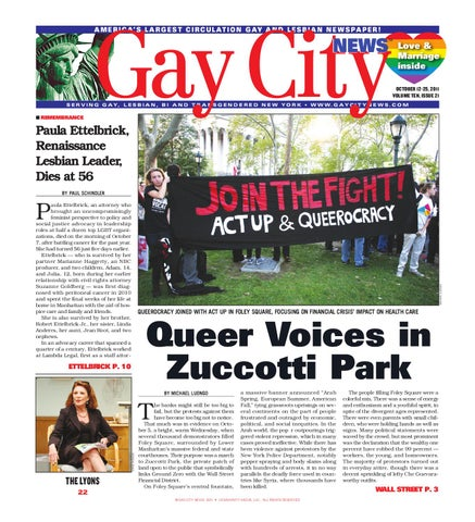 Gay City News, October 12 - 25, 2011 by NYC COMMUNITY MEDIA - issuu