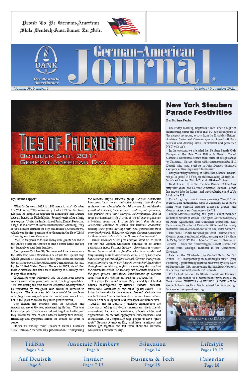 German-American Journal   October.November 2011 by DANK - German American  National Congress - issuu