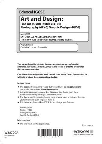 IGCSE Art & Design Exam by Lawrence McGrath - issuu