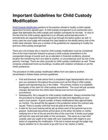 Child Custody Modification By Raul Gonzaga Issuu