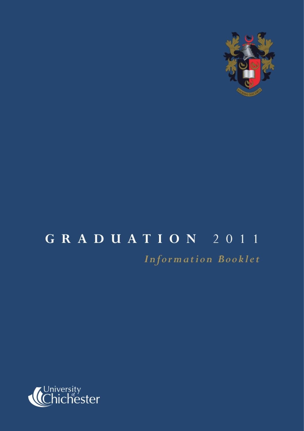 Graduation 2011 Information Booklet By University Of