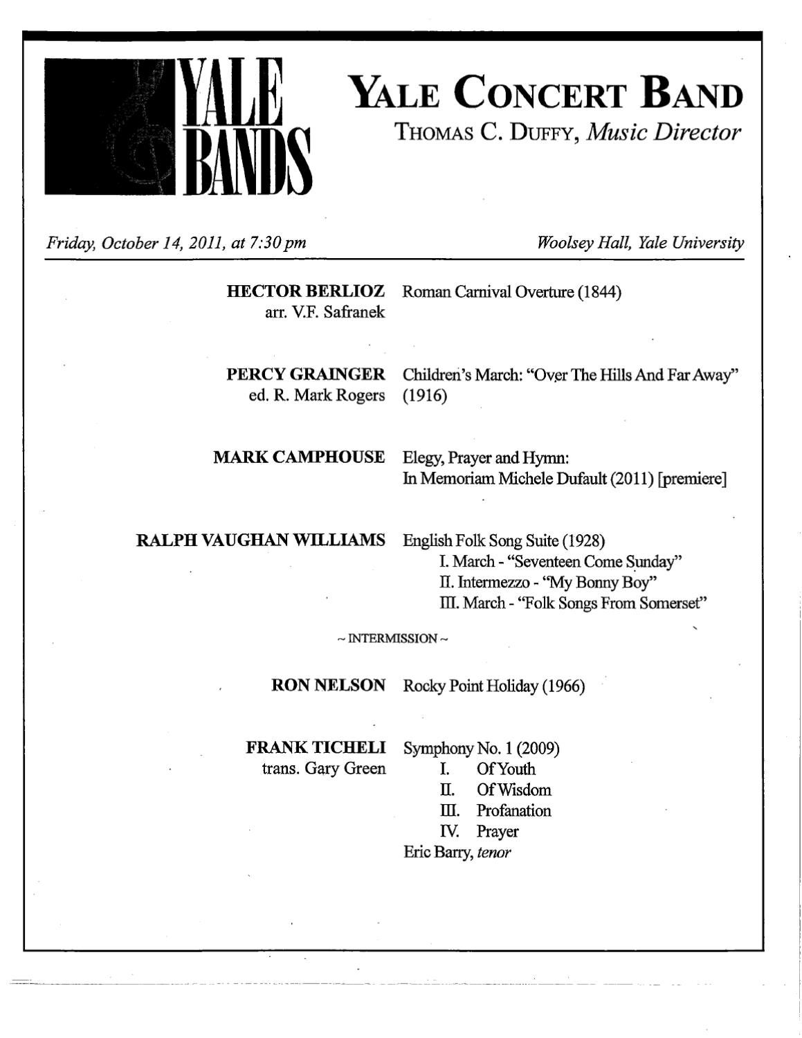 Yale Concert Band by Yale School of Music - issuu