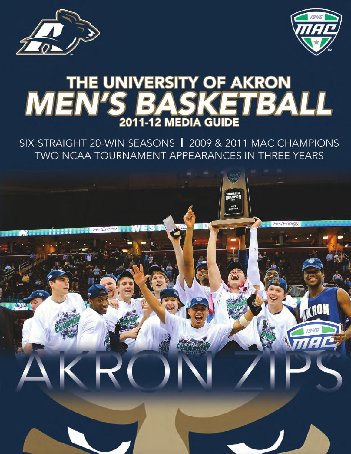 d373a1352 The University of Akron 2011-12 Men s Basketball Media Guide by Akron Zips  - issuu