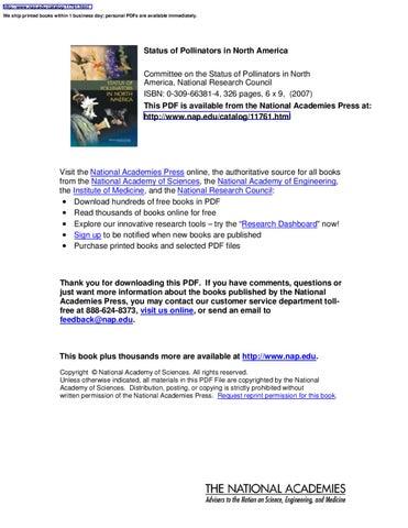 Status of pollinators in north america by yu li issuu page 1 fandeluxe Gallery
