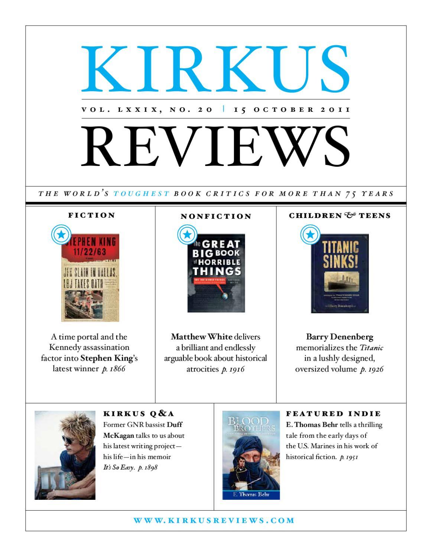 October 15 2011 Vol Lxxix No 20 By Kirkus Reviews Issuu