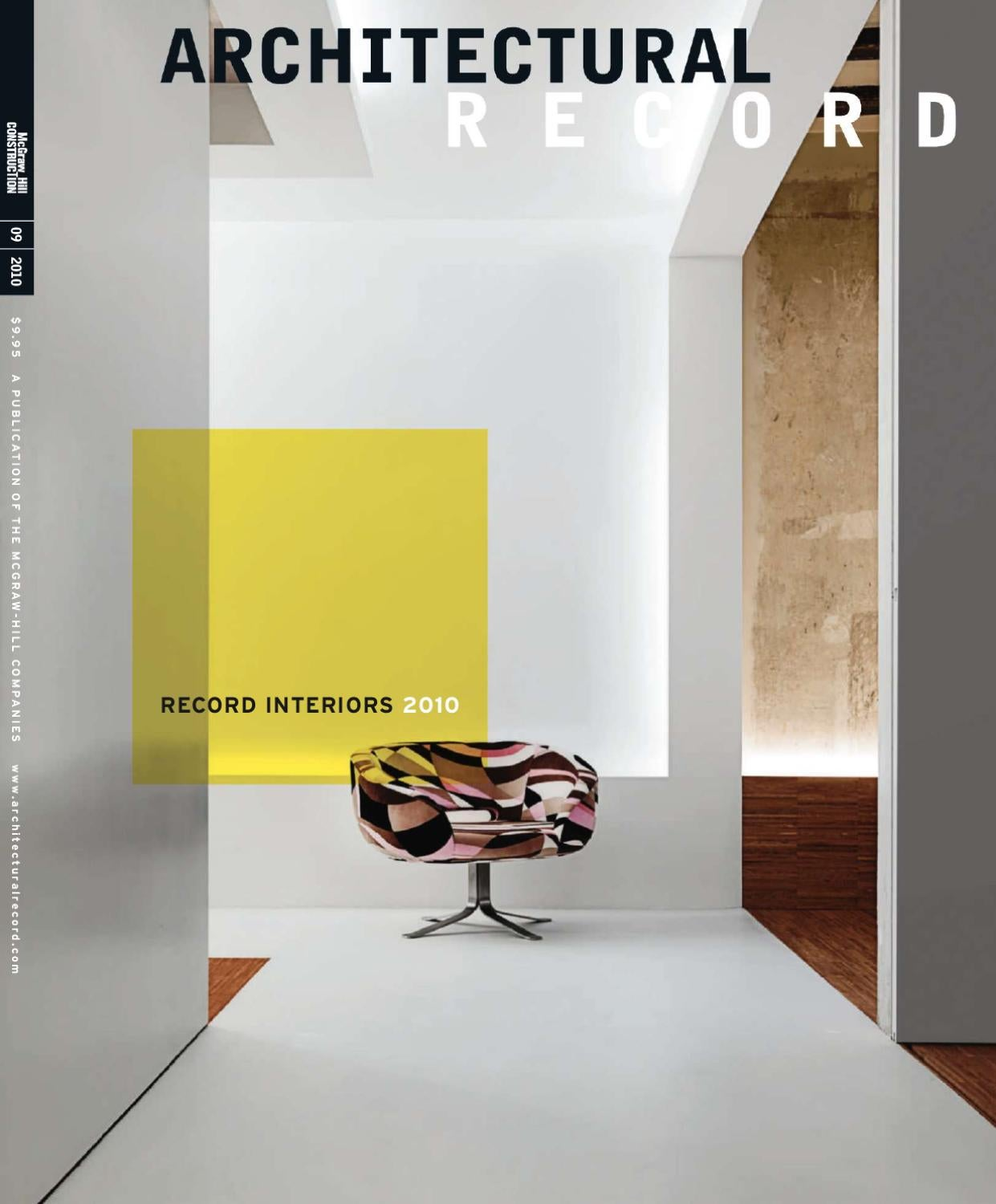 Architectural record 09 2010 by guilherme farias issuu