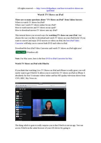 Watch TV Shows on iPad by lo lovehoon - issuu