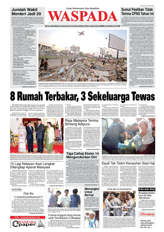Waspada Senin 17 Oktober 2011 By Harian Waspada Issuu