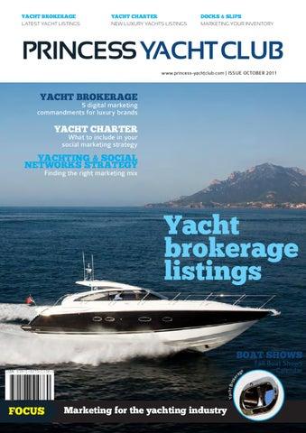 Princess Yacht Club Magazine Yacht Brokerage Yacht Charter October 2011 Issue