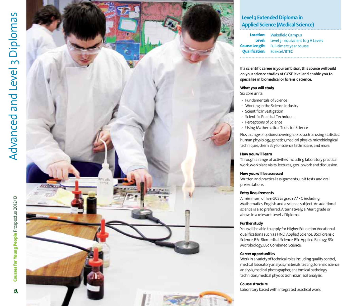 Courses for Young People at Wakefield College by Wakefield
