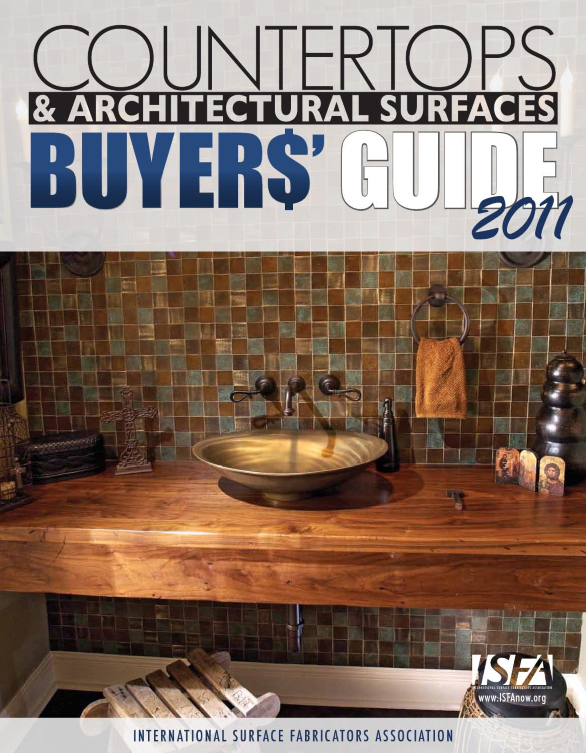 Isfa Countertops Architectural Surfaces Buyers Guide 2011 By Isfa Issuu