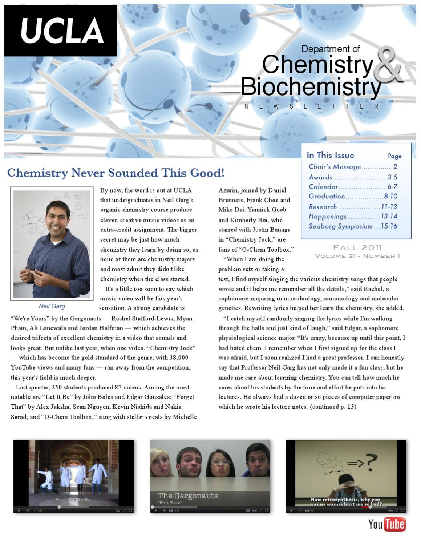 UCLA Chemistry & Biochemistry 2011 Fall Newsletter by UCLA