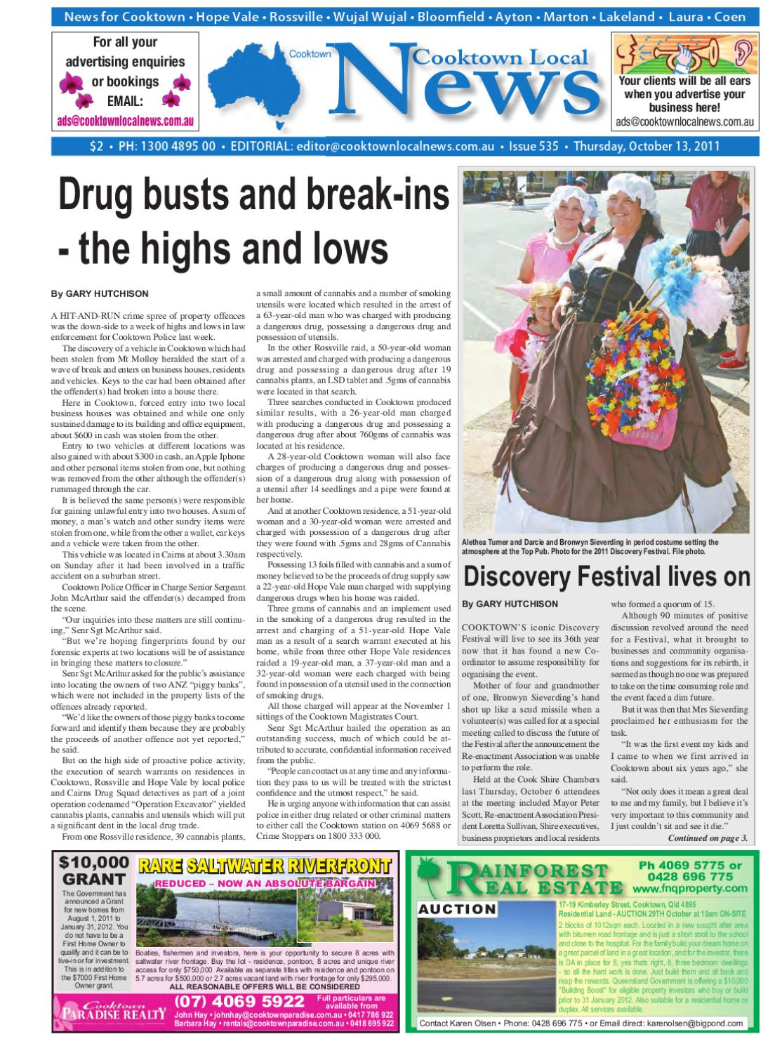 f8c281f14f Cooktown Local News 13 October 2011 by Regional and Remote Newspapers -  issuu