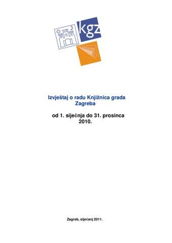Izvjestaj O Radu Kgz A By Knjiznice Grada Zagreba Issuu