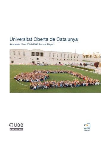 Annual Report Uoc Academic Year 2004 2005 By Uoc Universitat