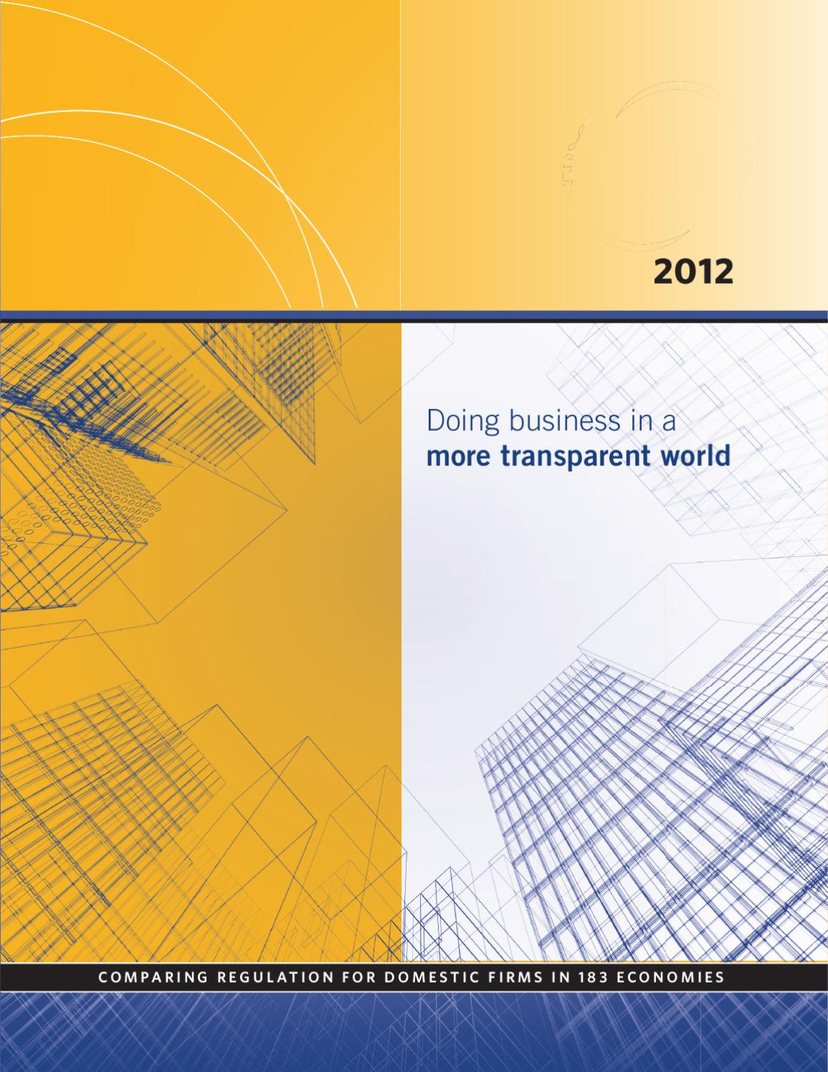 Doing Business 2012 by World Bank Publications - issuu 5454eb39b0f1a