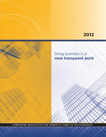 Doing Business 2012 By World Bank Publications Issuu
