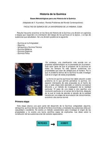 Historia de la qu mica by jos l pez mateos issuu for Resumen del libro quimica en la cocina