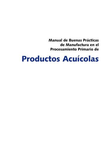Manual buenas practicas de manufactura de productos Manual de buenas practicas de manufactura pdf