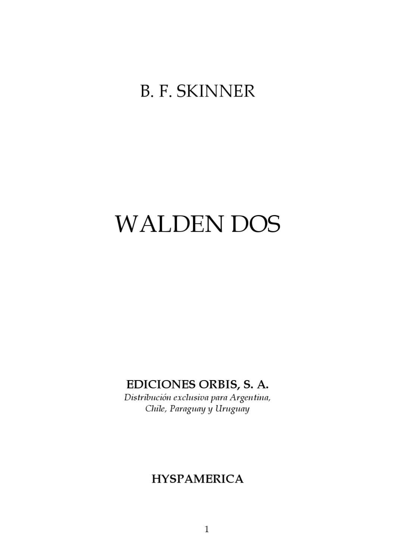 Walden Dos de B.F Skinner by Eduardo Trujillo Azahuanche - issuu 5afd7acdcbe