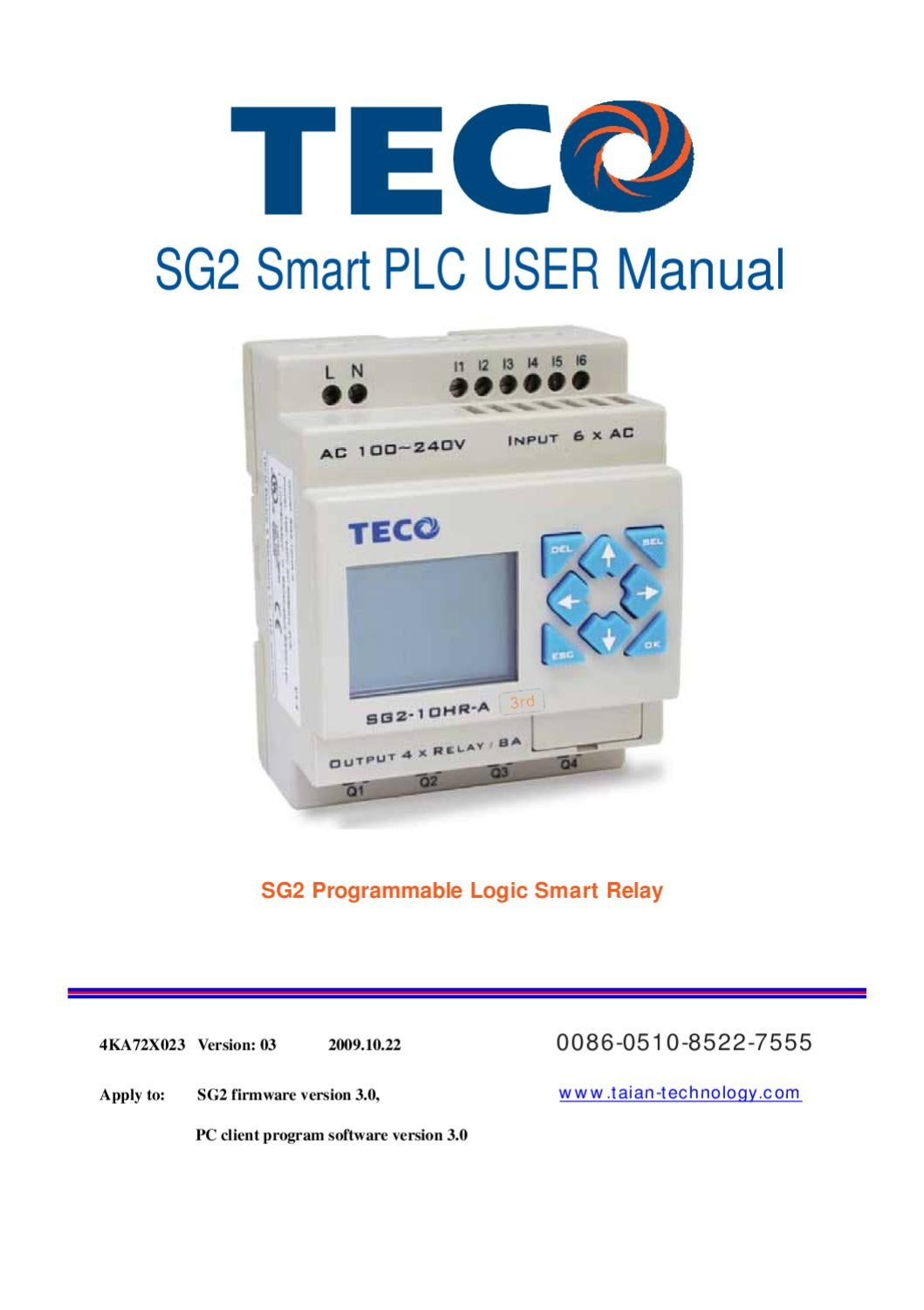 Teco Sg2 Manual By Heidar Ghaedi Issuu