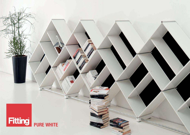 Fitting pure white: the bookcase la libreria la biblioteque by