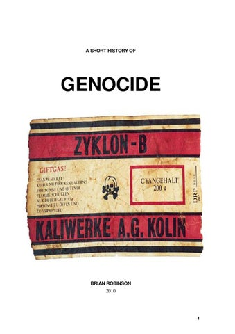 A short history of genocide by brian robinson issuu a short history of fandeluxe Image collections
