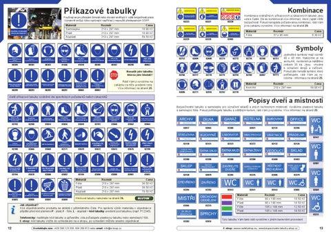 Bezpečnostní tabulky - TRAIVA Katalog by Karel Ospalik - issuu 8e3d6a3edc