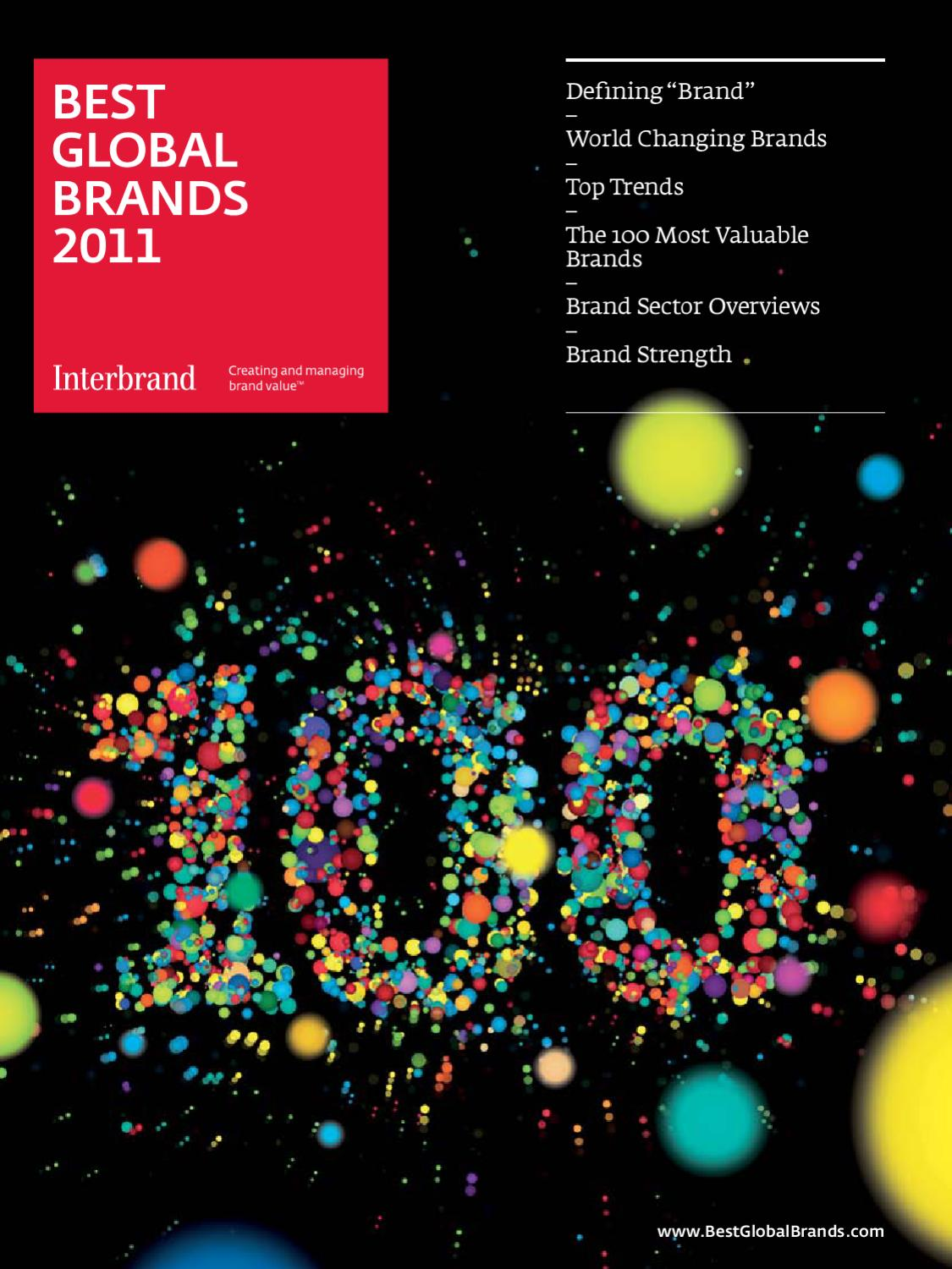 Best Global Brands 2011 By Interbrand Issuu
