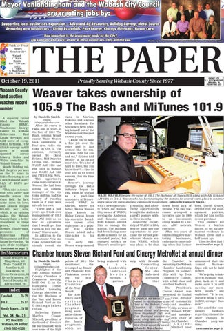 Oct. 19, 2011 by The Paper of Wabash County - issuu