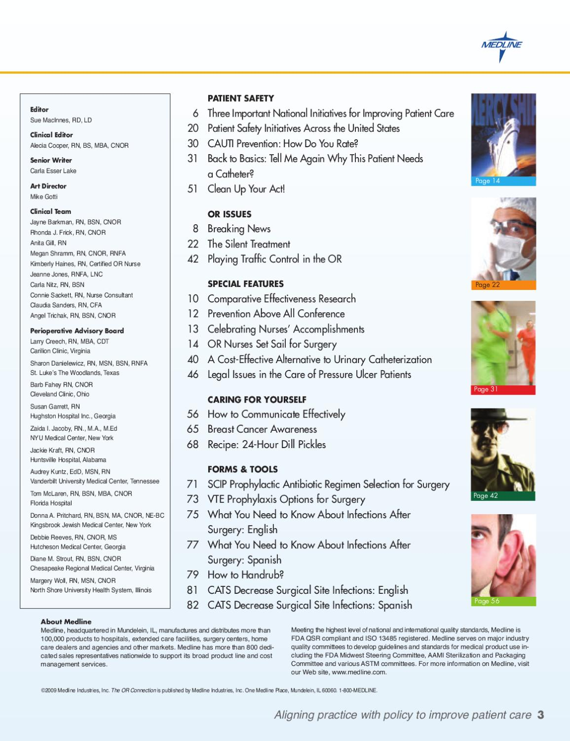 Or Connection Volume 4 Issue 2 By Medline Industries Issuu